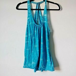 5/$15 Route 66 Small Blue Crossing Back Tank Top